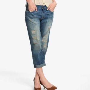 Current/Elliot Panhandle W/Repair Boyfriend Jeans